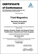 ISO 22301-2012 Cert
